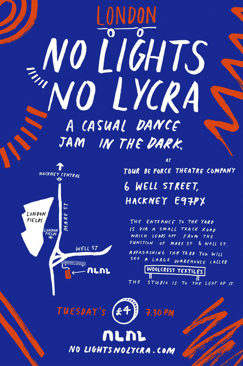 No Lights No Lycra - Flyer
