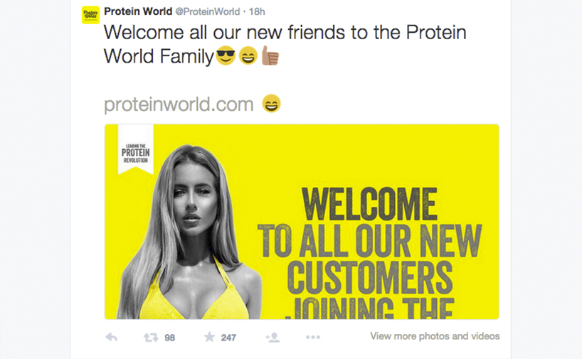 Protein World - Tweet 2