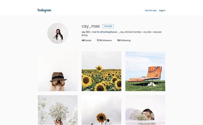 Minimalist Instagrammers - @Cay_Mae
