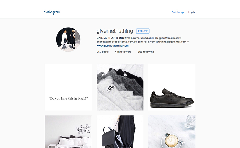 Minimalist Instagrammers - @Givemethathing