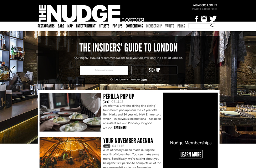 London social guides - The Nudge