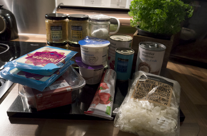 Tikka Masala ingredients