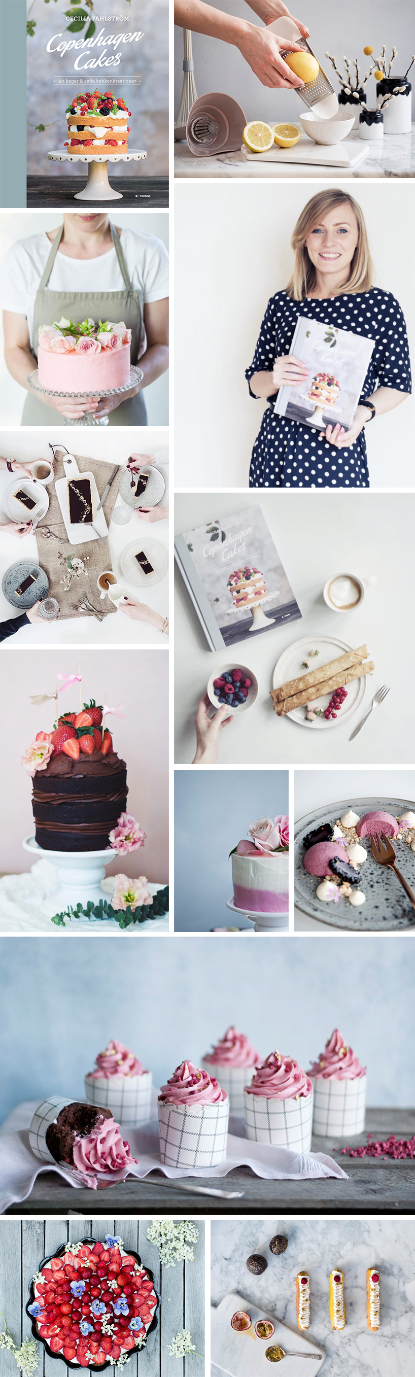Copenhagen Cakes - Book and cake
