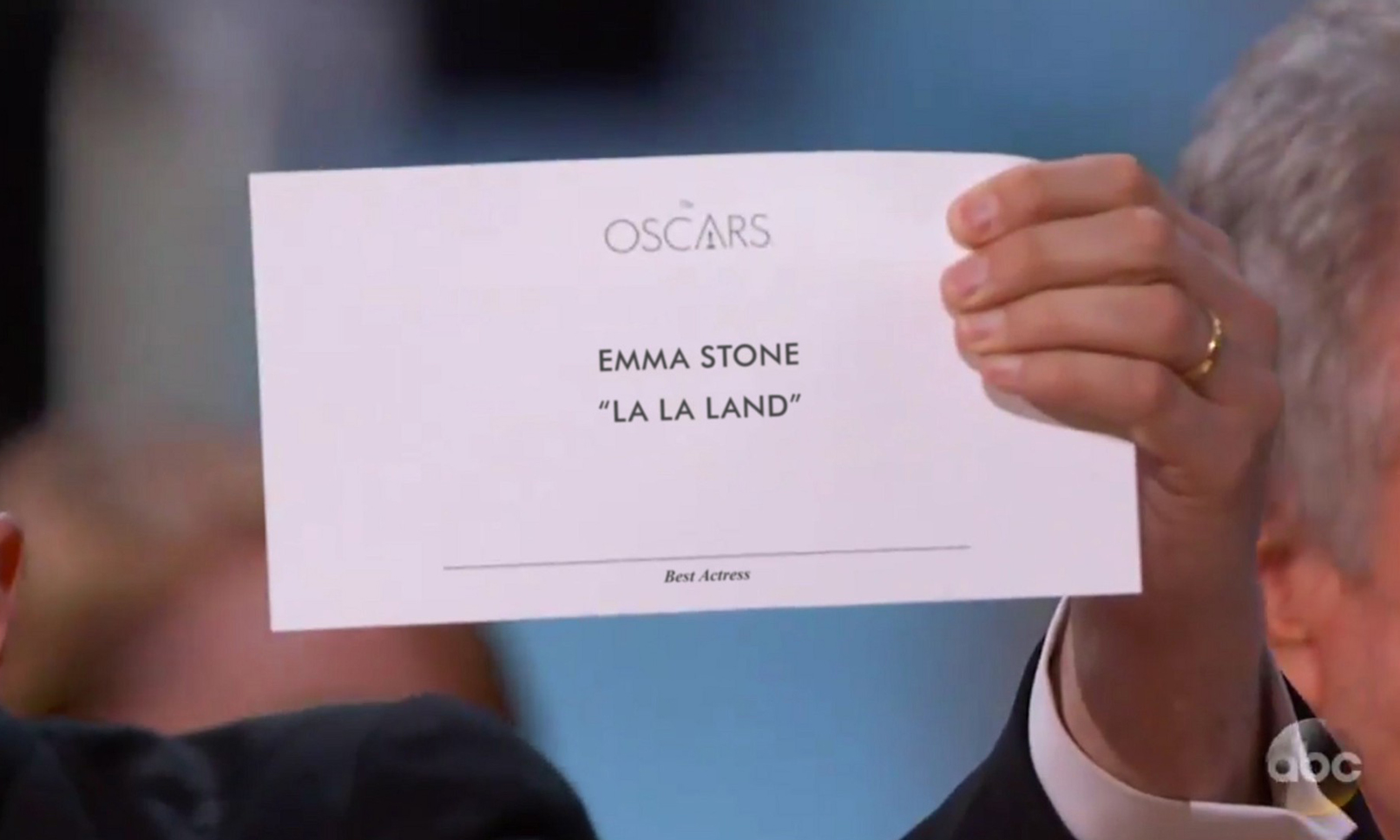Typography at the Oscars - Emma Stone