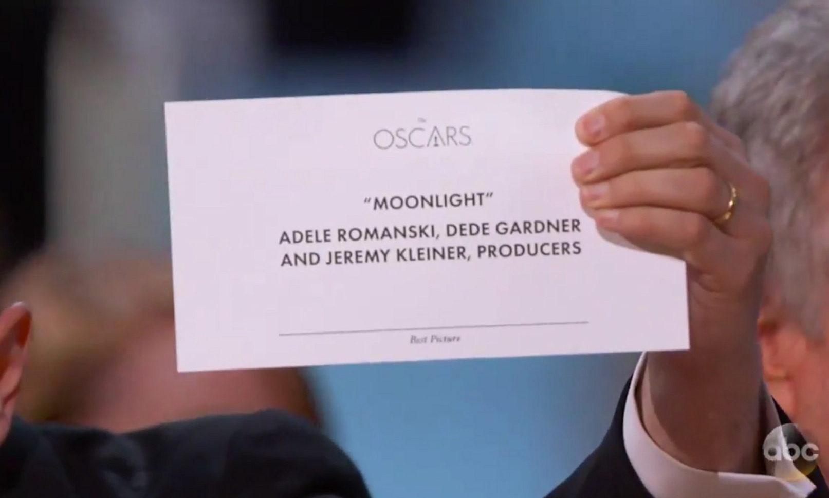 Typography at the Oscars - Moonlight