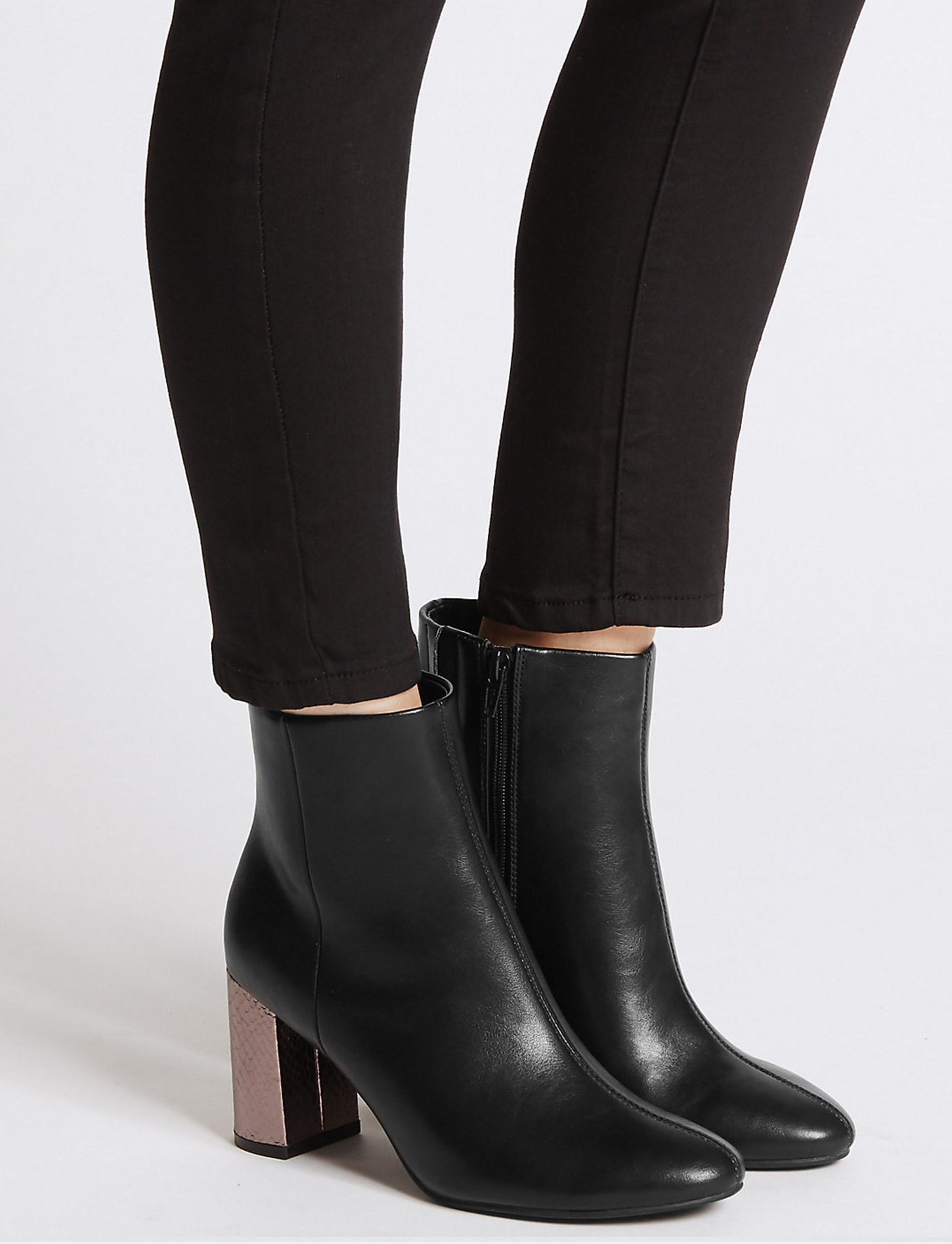 M&S block heel ankle boots