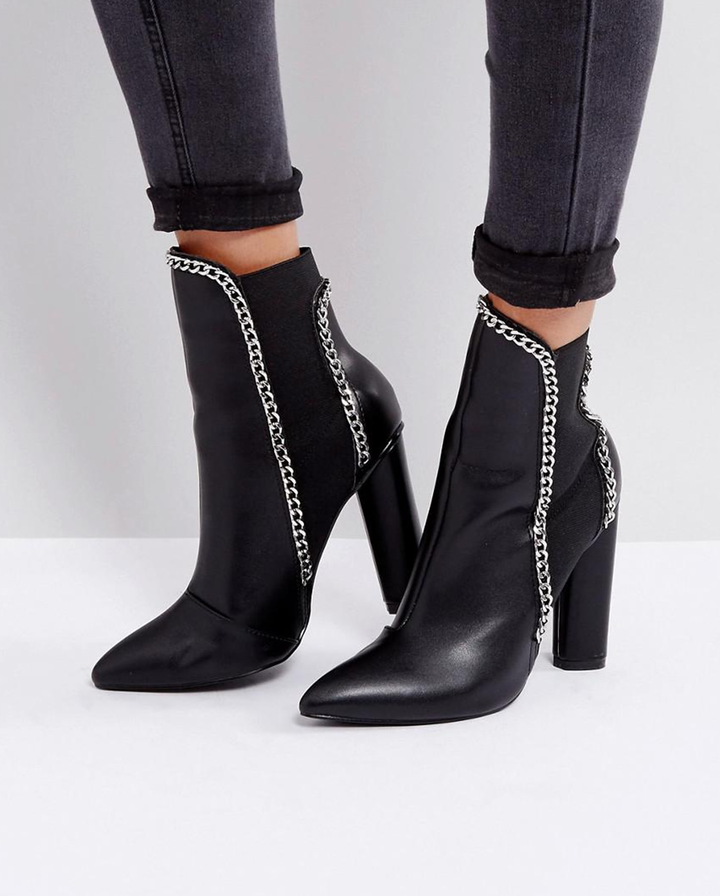 asos prettylittlething chain boot
