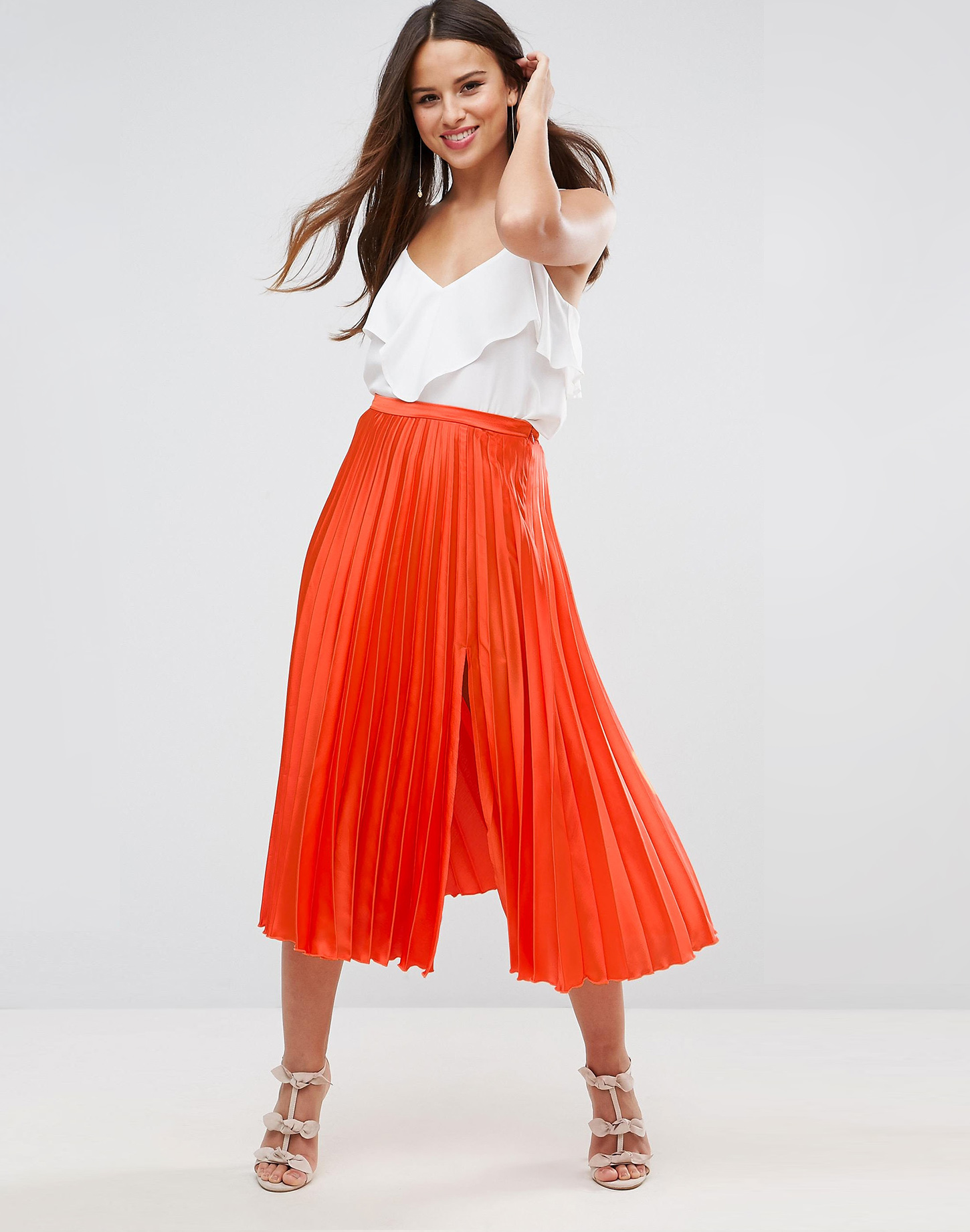 Asos pleat midi skirt