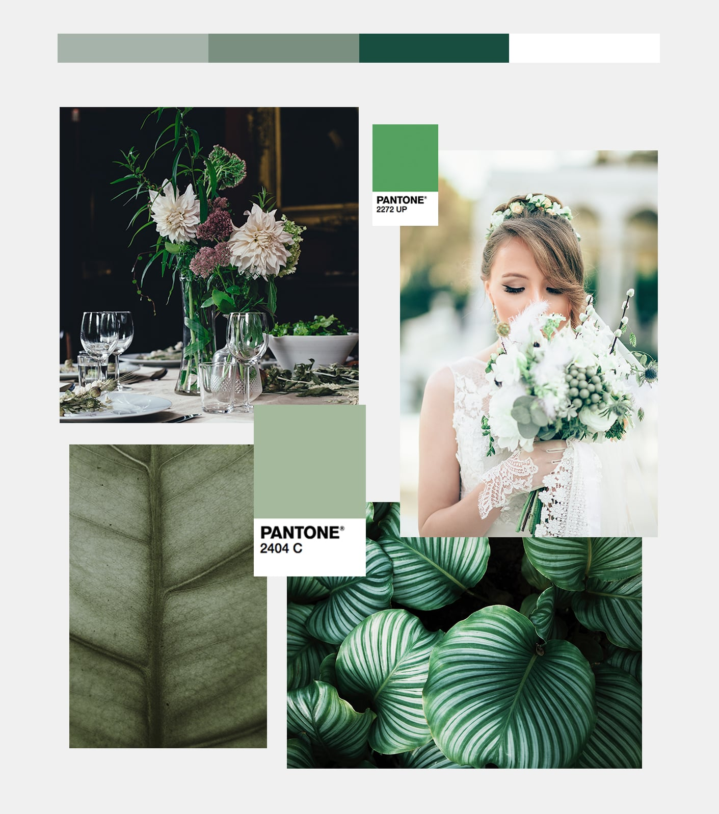Foliage wedding palette