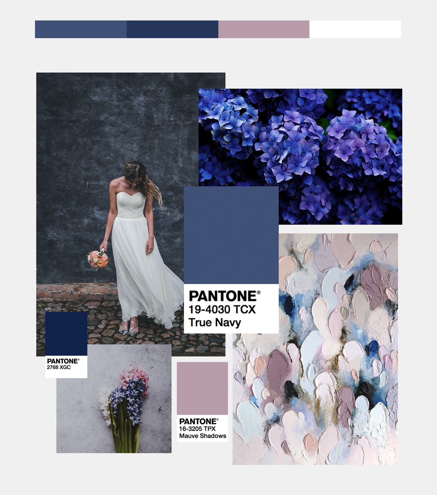 Navy & mauve wedding palette