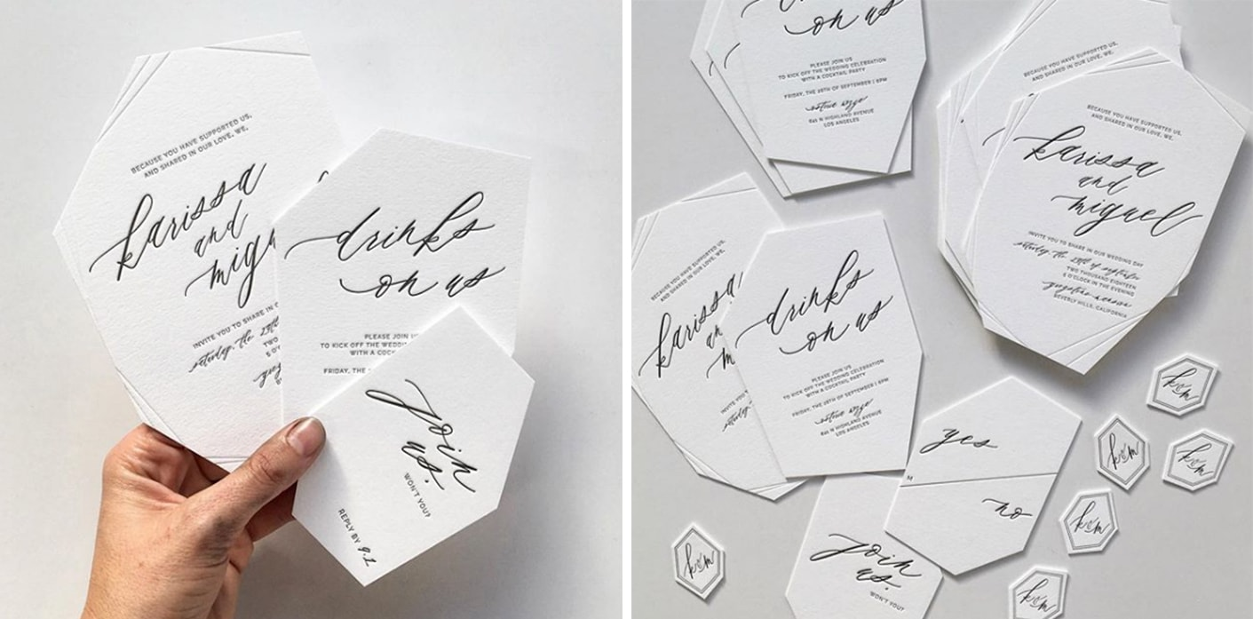 wedding trends - swell press geometric shapes